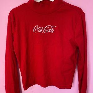 Coca Cola Turtleneck Ribbed Longsleeve